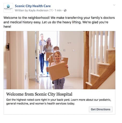 Scenic City Health Care Facebook Ad